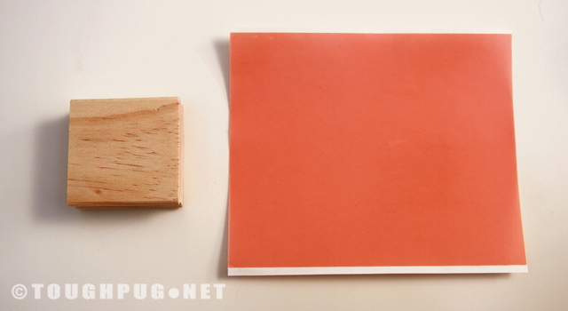 Wooden Block for Handle and Adhesive Sheet